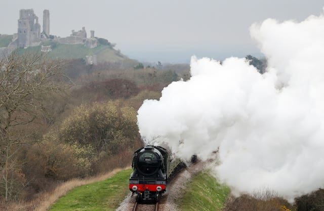 Flying Scotsman on Swanage Railway