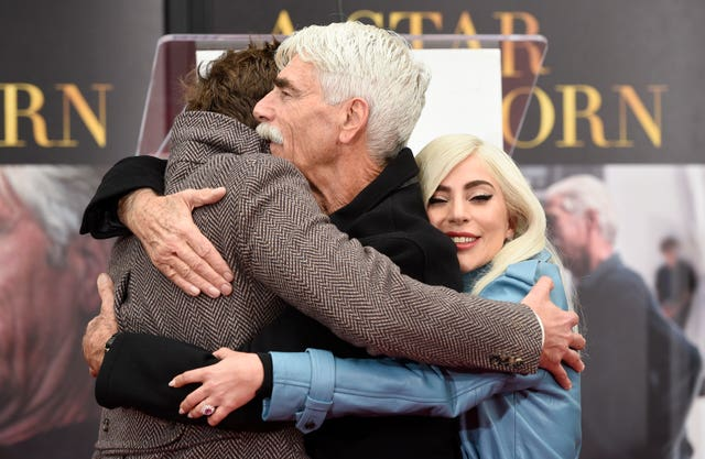Bradley Cooper and Lady Gaga support Sam Elliott as he is honoured