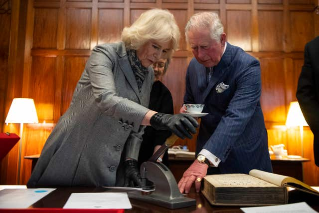 Camilla, pictured with Charles during their recent visit to the Supreme Court, talked about Cuba when she toured the legal building. Victoria Jones/PA Wire