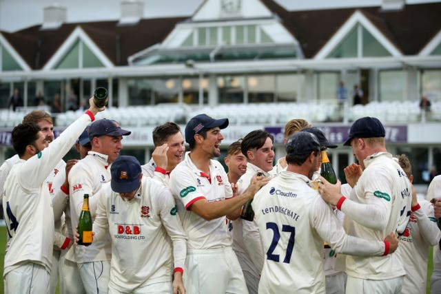 Essex players keep in touch via their WhatsApp group