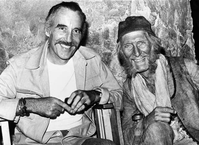 Christopher Lee and Peter Cushing – Pinewood Studios