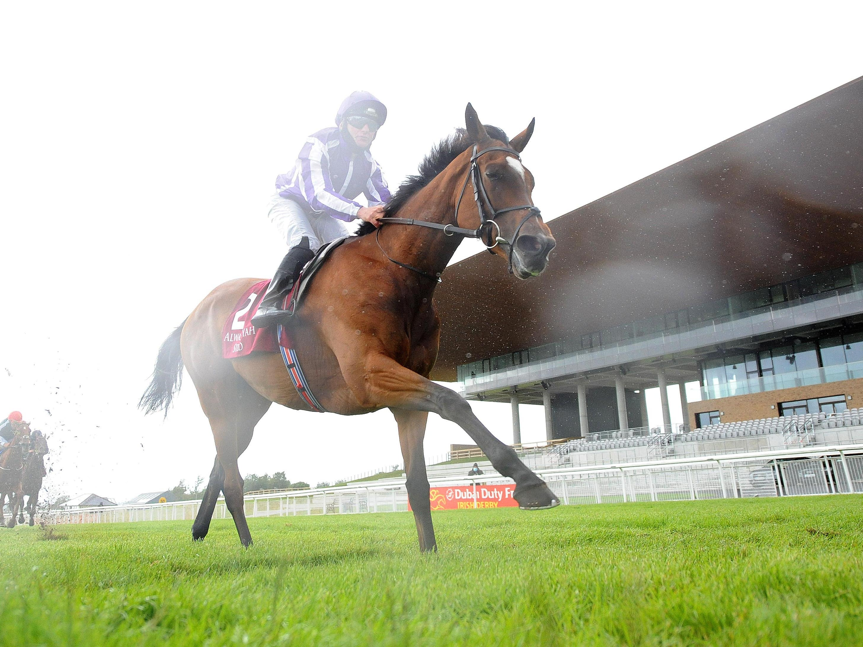 Magical and Seamie Heffernan win the Alwasmiyah Pretty Polly Stakes at the Curragh (PA)