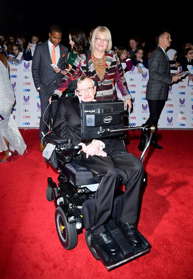 Stephen Hawking attending The Pride of Britain Awards in 2016