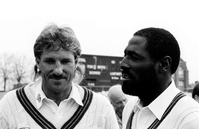 Sir Ian Botham (left) and Sir Viv Richards (right) have lent their names to a new trophy.