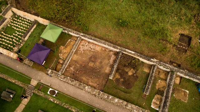 The mosaic was unearthed at the Roman villa in Chedworth, Gloucestershire