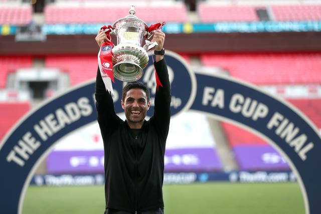 Mikel Arteta guided Arsenal to the FA Cup after less than eight months in charge.