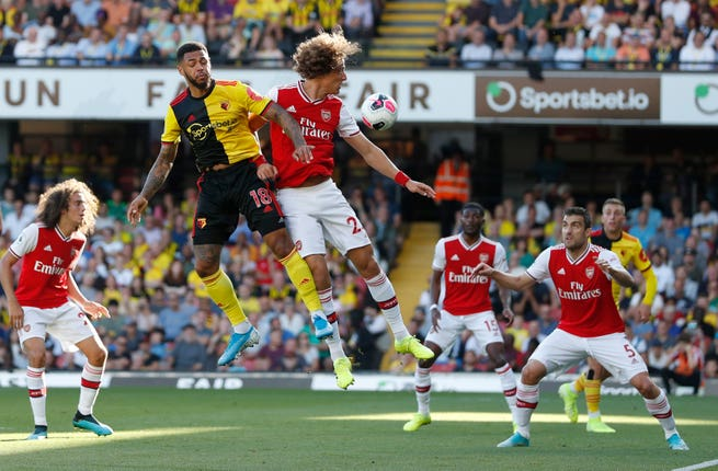 Watford and Arsenal in action