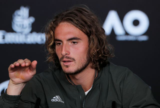Stefanos Tsitsipas, pictured, beat Roger Federer in Melbourne last year