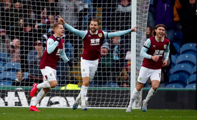 Burnley are 10th in the Premier League standings