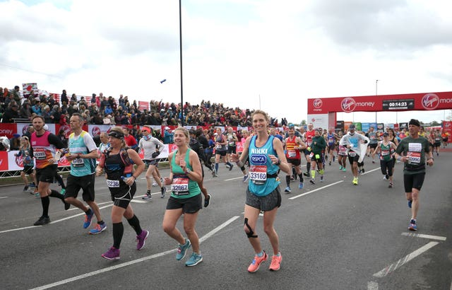 Runners during the 2019 Virgin Money London Marathon (Steven Paston/PA Wire)