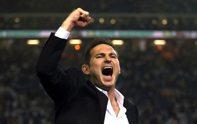 Frank Lampard had the last laugh when Derby edged out Leeds in the play-off semi-final (Nick Potts/PA)