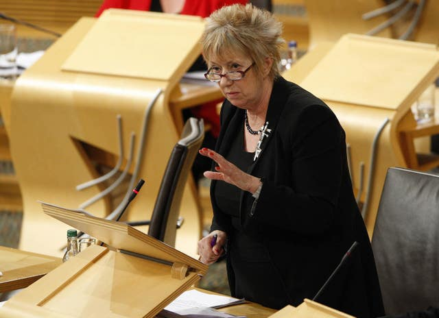 Midlothian South, Tweeddale and Lauderdale MSP Christine Grahame asked about 'booze cruises' (Scottish Parliament/PA)