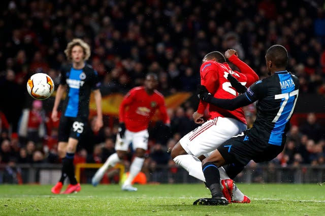 Odion Ighalo steers home his first United goal