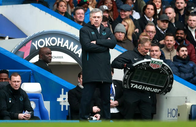 Everton manager Carlo Ancelotti had little to smile about on Sunday