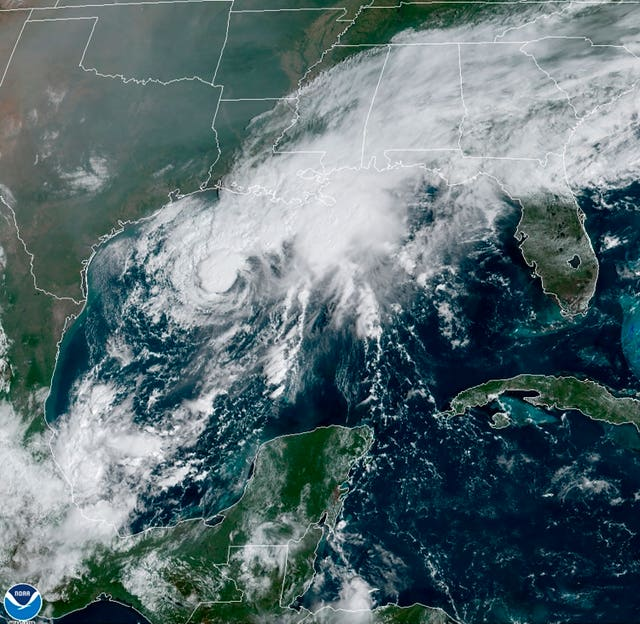 Satellite image of Tropical Storm Beta