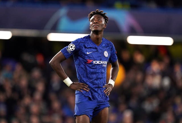 Lampard believes Tammy Abraham, pictured, should look at Harry Kane as a role model