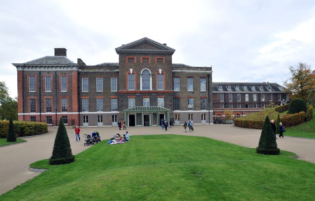 Kensington Palace in west London (Nick Ansell/PA)