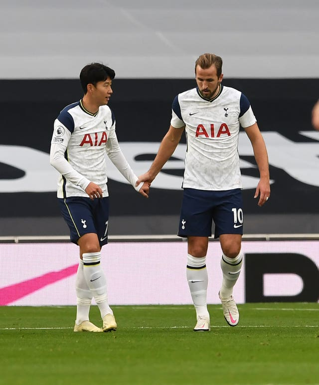 Harry Kane, right, and Son Heung-min