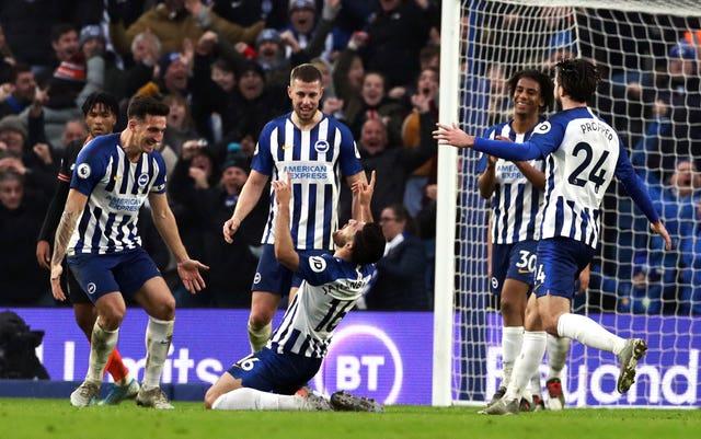 Brighton drew 1-1 with Chelsea