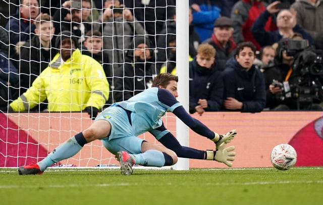 Dutchman Tim Krul had helped Norwich reach the FA Cup quarter-finals with a penalty shoot-out victory at Tottenham