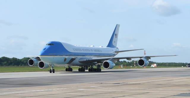 Air Force One (Joe Giddens/PA)