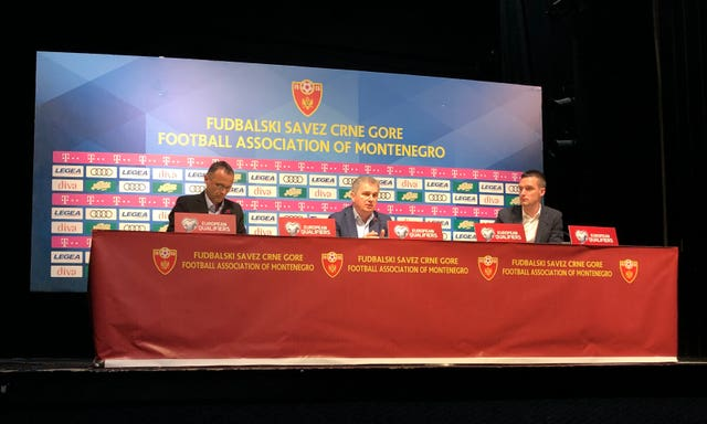 Montenegro head coach Ljubisa Tumbakovic denied hearing the chants