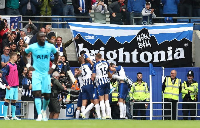 Tottenham were well beaten by Brighton