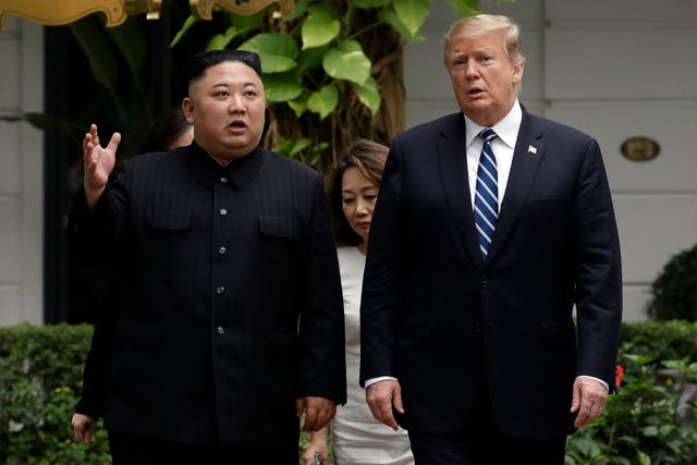 Donald Trump and North Korean leader Kim Jong Un