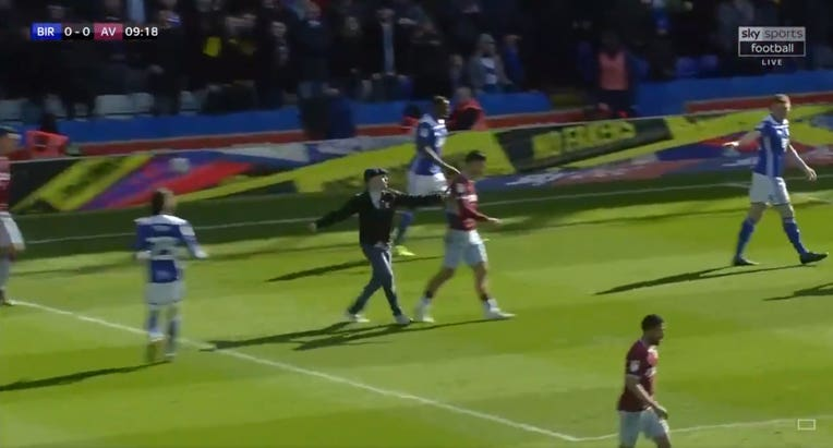 Aston Villa captain Jack Grealish was attacked by a Birmingham fan during a Championship match in March
