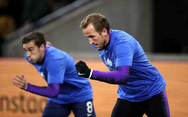 Harry Winks, left, and Harry Kane are both fighting to be fit for the finals