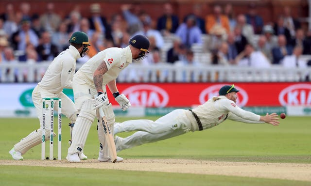 A Ben Stokes edge just evades David Warner
