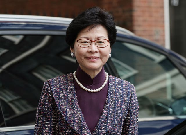 Carrie Lam visit to UK