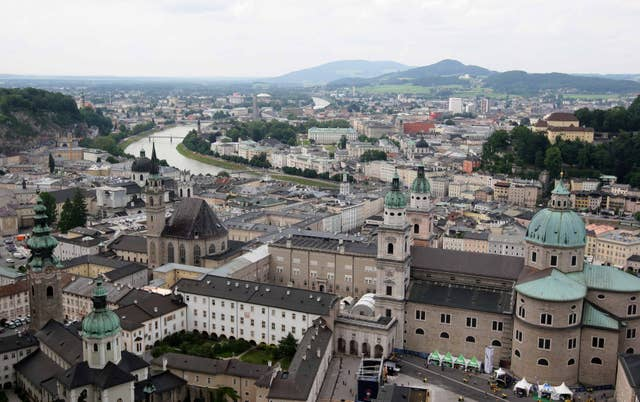 A general view of Salzburg