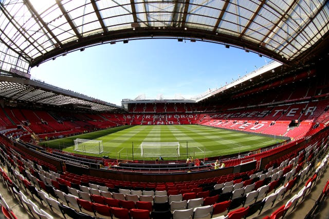 Old Trafford will look very different as Premier League football returns without fans