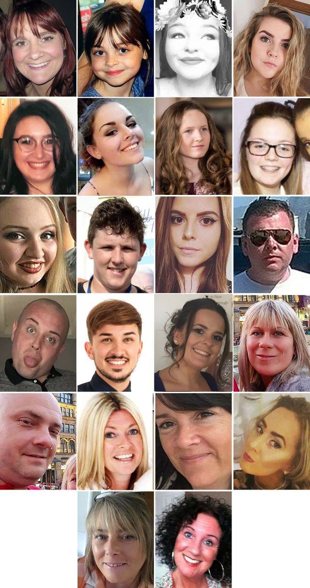 Manchester Arena attack victims