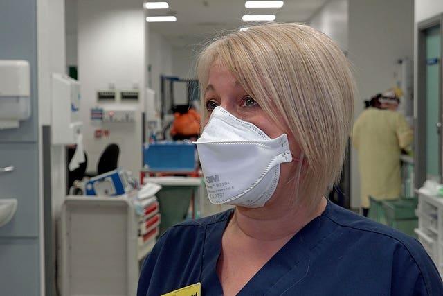 Matron Lindsey Izard at St George's Hospital