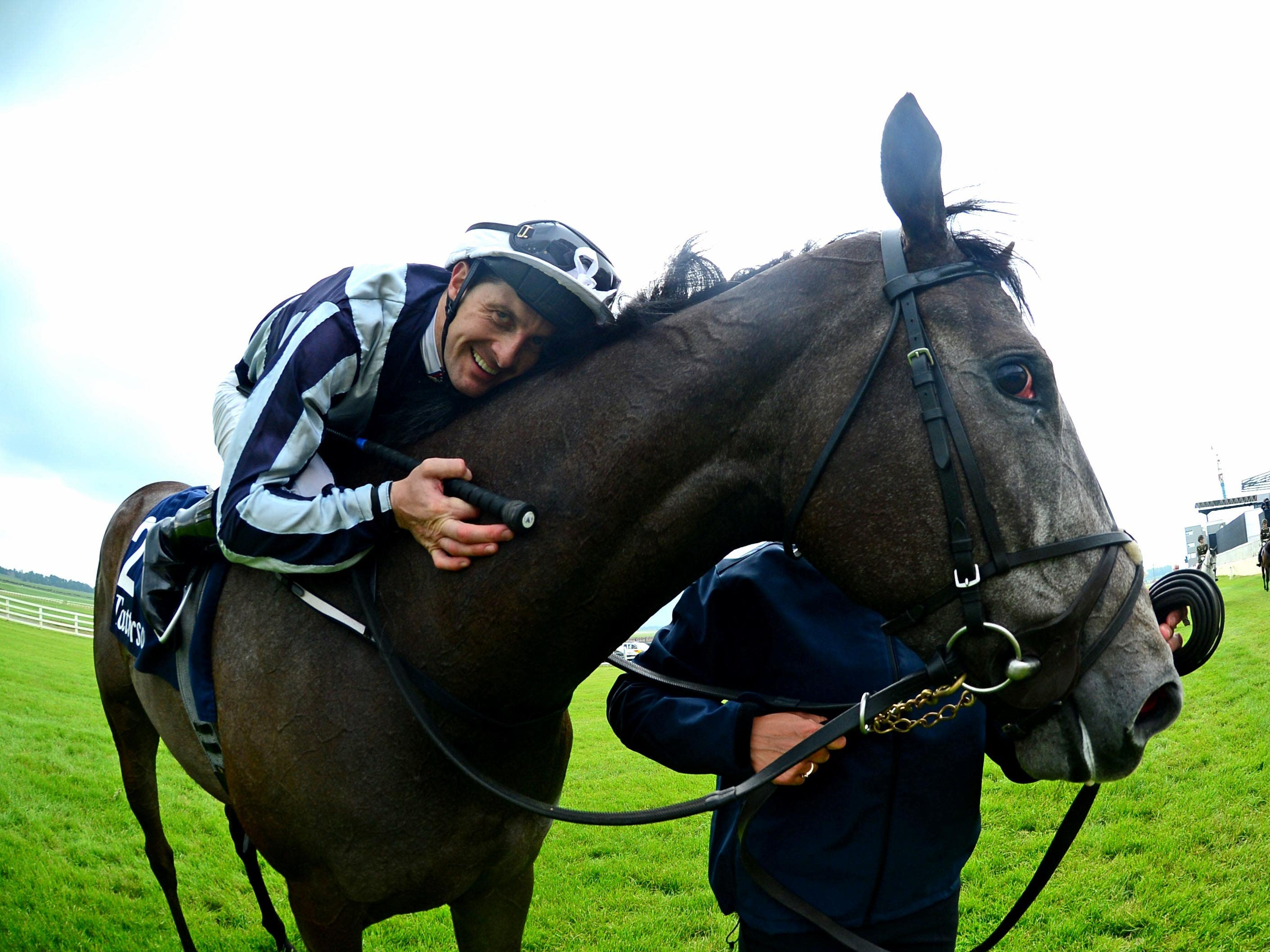 Alpha Centauri and jockey Colm O'Donoghue after winning the Irish 1,000 Guineas (PA)