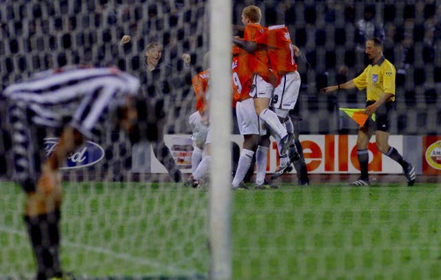 Manchester United famously won at Juventus in 1999