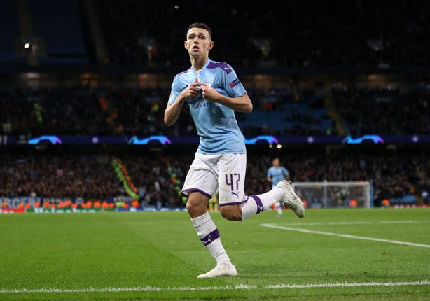 Phil Foden scored for Manchester City on Tuesday night