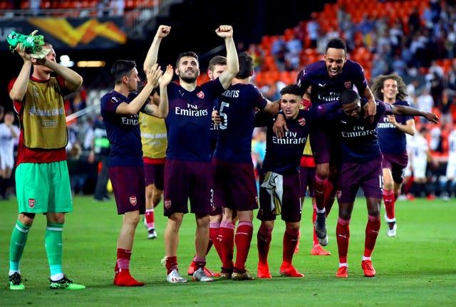 c55c479ed Arsenal beat Valencia to reach the Europa League final in Baku (Nick  Potts PA)