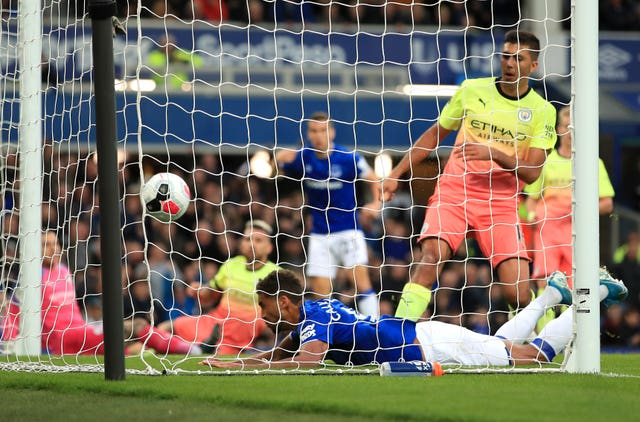 Dominic Calvert-Lewin netted Everton's goal in the 3-1 defeat to Manchester City