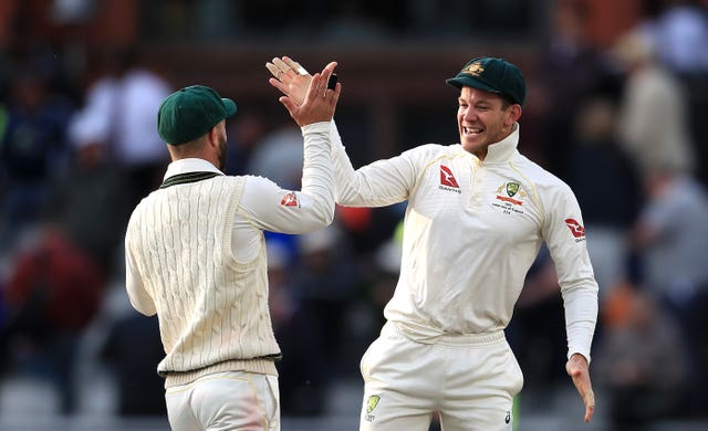 Tim Paine (right) hailed Australia's character