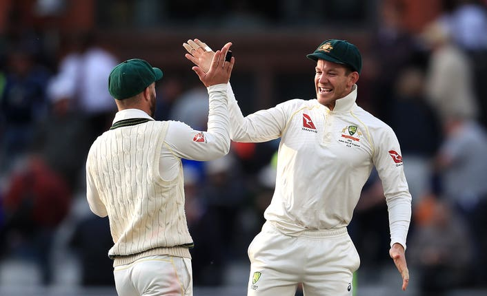 Tim Paine (right) hailed Australia's character