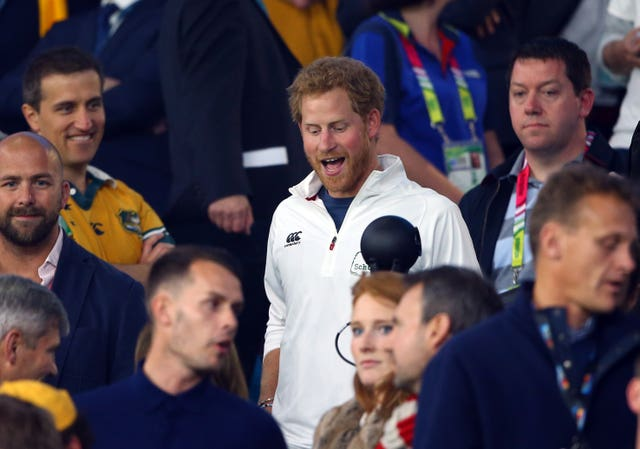 Harry was present for the England v Australia game