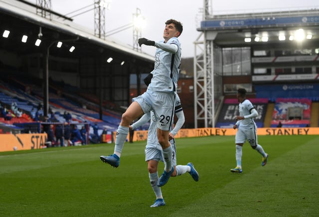 Kai Havertz opened the scoring in Chelsea's comfortable win at Crystal Palace