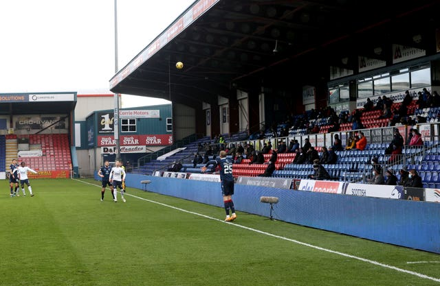 Fans watch Ross County play Rangers