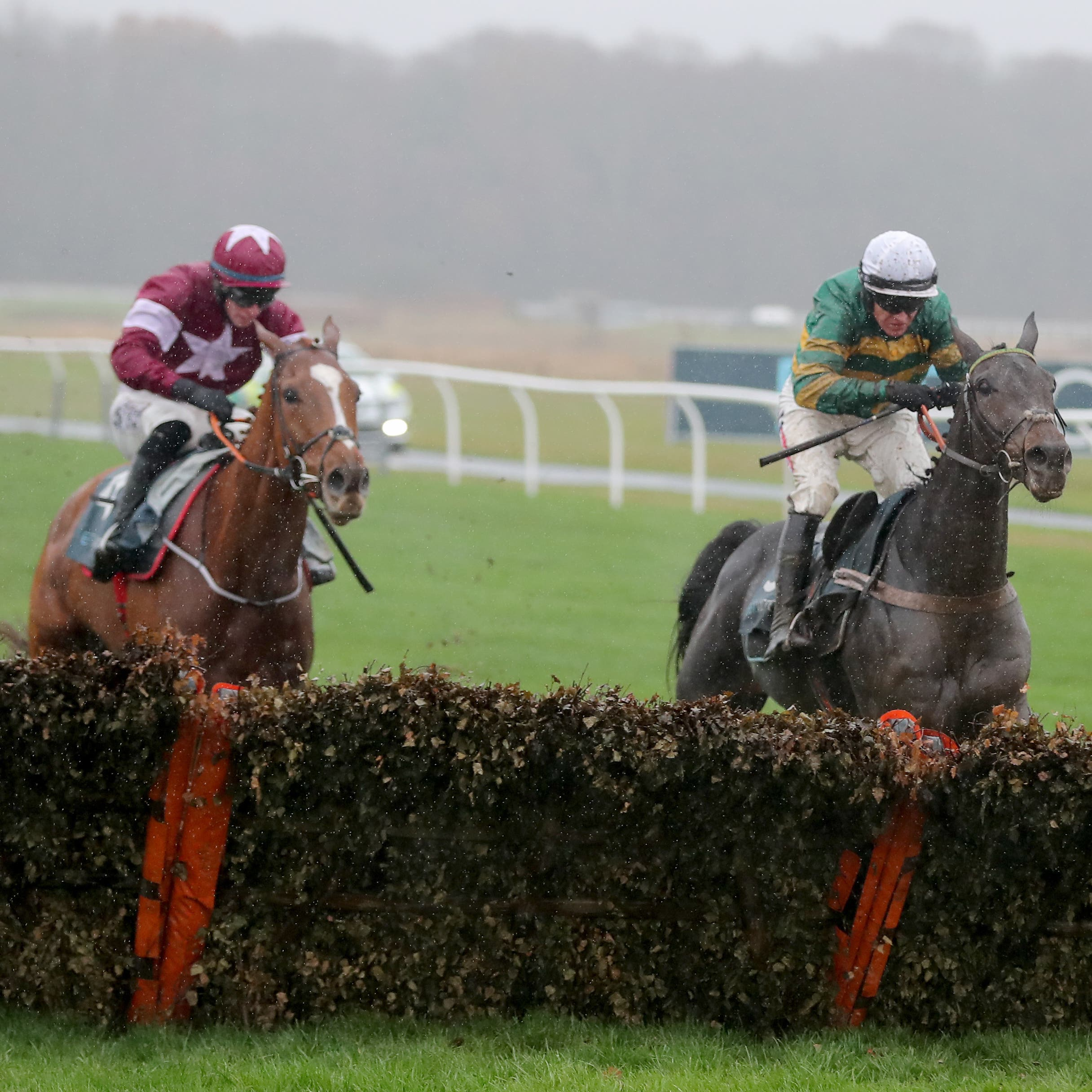 Samcro (left) had to give best to Buveur D'Air at Newcastle