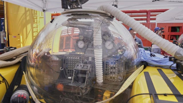The recovered submersible