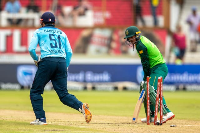 De Kock was one of two wickets to fall