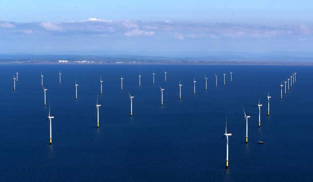 The Walney Extension is one of the new offshore wind farms boosting British renewables (Peter Byrne/PA)